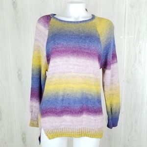 EXPRESS Size S Striped Tunic Boat Neck Sweater.